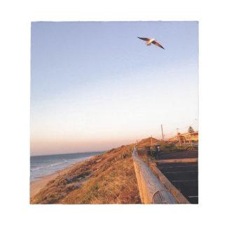 Playa Seagul del halcón Bloc De Notas