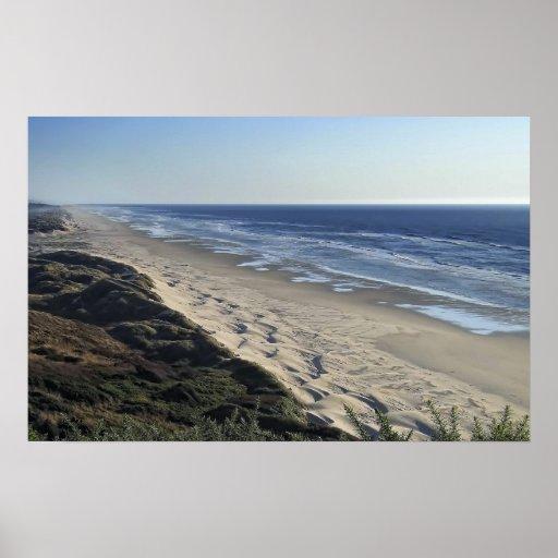Playa sin fin de la duna de arena - Oregon meridio Posters