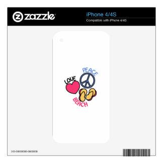 Playa Skins Para iPhone 4S