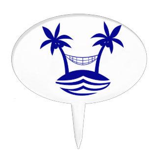 playa smileblue.png de la hamaca de la palma decoración para tarta