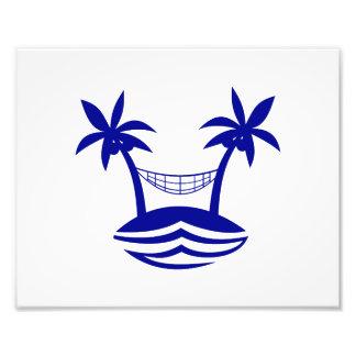 playa smileblue.png de la hamaca de la palma fotografías