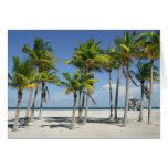 Playa soleada hermosa en tarjeta de felicitación d