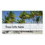 Playa soleada hermosa en tarjeta de visita de la t