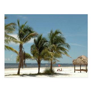 Playa solitaria en la playa la Florida de fuerte Postal