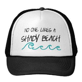 Playa sombría gorras