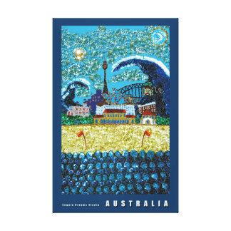 Playa Sydney Australia de la lona el | Luna Bondi Impresiones En Lona