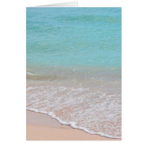 playa tarjeta de felicitación