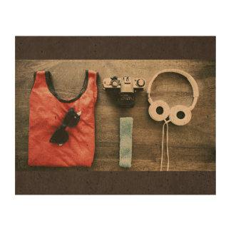 Playa temática, un tanque rojo con las gafas papel de corcho para fotos