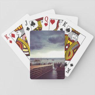 Playa tempestuosa cartas de juego
