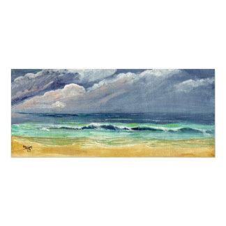 """Playa tempestuosa del cielo invitación 4"""" x 9.25"""""""