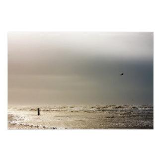 Playa tempestuosa fotografía