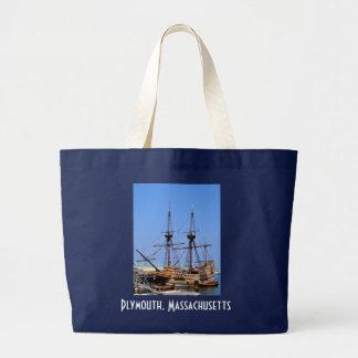 Playa Totebag de Plymouth Massachusetts Mayflower Bolsa Tela Grande
