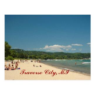Playa transversal de la ciudad postal