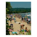 Playa transversal de la ciudad tarjeta postal