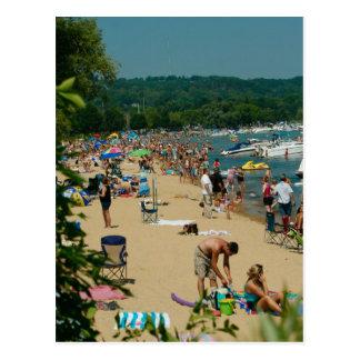 Playa transversal de la ciudad tarjetas postales