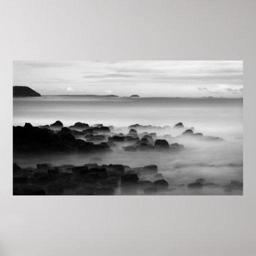 Playa trasera del Flinders Poster