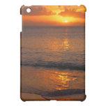 Playa trémula de la puesta del sol
