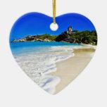Playa tropical adorno de reyes