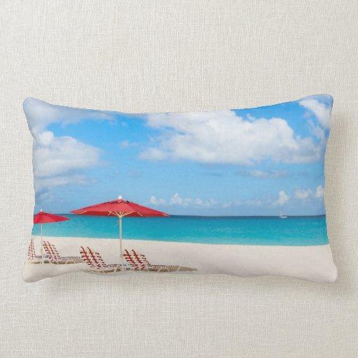 Playa tropical almohadas