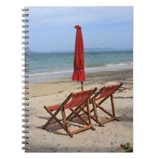 Playa tropical libros de apuntes