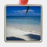 Playa tropical de la isla caribeña adorno para reyes