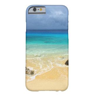 Playa tropical de la isla del paraíso funda de iPhone 6 barely there