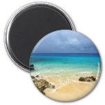 Playa tropical de la isla del paraíso imanes para frigoríficos