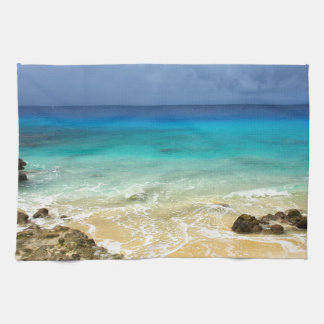 Playa tropical de la isla del paraíso toalla de cocina
