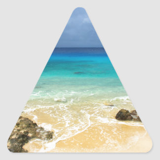 Playa tropical de la isla del paraíso etiquetas