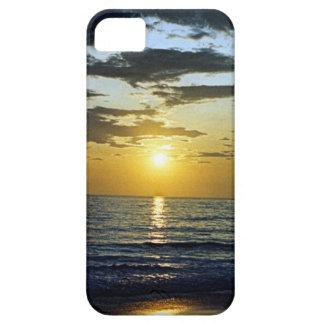 playa tropical de la puesta del sol iPhone 5 carcasas