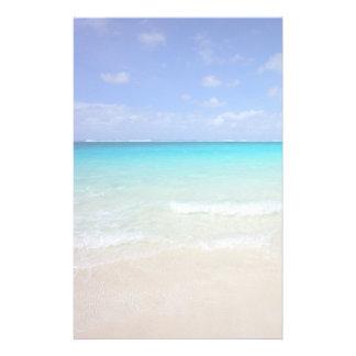Playa tropical del Caribe azul azul Papeleria De Diseño