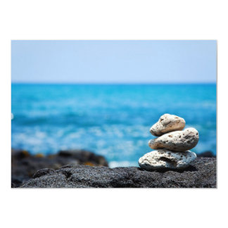 """Playa tropical del océano coralino de Hawaii de la Invitación 4.5"""" X 6.25"""""""