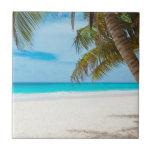 Playa tropical del paraíso azulejos cerámicos