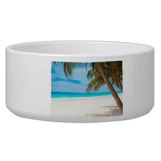 Playa tropical del paraíso tazón para perro