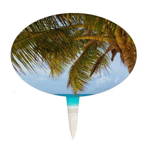 Playa tropical del paraíso decoración de tarta
