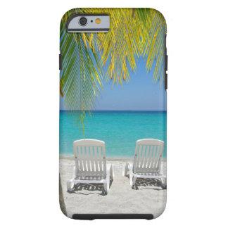 Playa tropical del paraíso en el Caribe Funda De iPhone 6 Tough