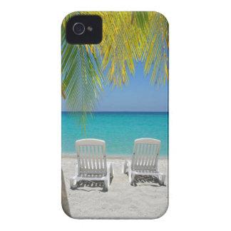 Playa tropical del paraíso en el Caribe iPhone 4 Cárcasas