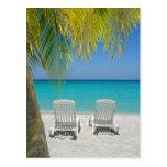 Playa tropical del paraíso en el Caribe Tarjetas Postales