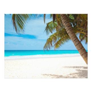"""Playa tropical del paraíso folleto 8.5"""" x 11"""""""