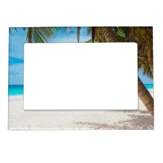 Playa tropical del paraíso foto de imanes