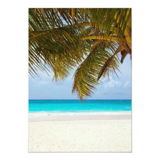 Playa tropical del paraíso invitación 12,7 x 17,8 cm