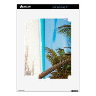 Playa tropical del paraíso iPad 2 calcomanía