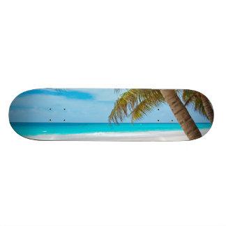 Playa tropical del paraíso patín