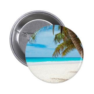 Playa tropical del paraíso pin redondo 5 cm