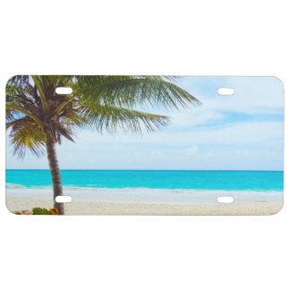 Playa tropical del paraíso placa de matrícula
