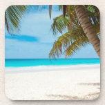 Playa tropical del paraíso posavasos