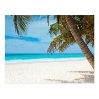 Playa tropical del paraíso postal