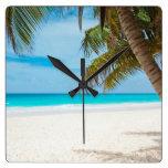Playa tropical del paraíso reloj