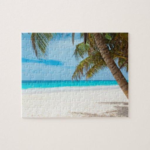 Playa tropical del paraíso rompecabeza con fotos