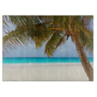 Playa tropical del paraíso tablas para cortar